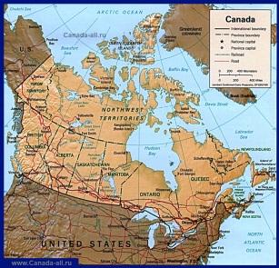 Карта дорог Канады
