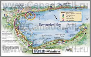 Подробная туристическая карта города Барри