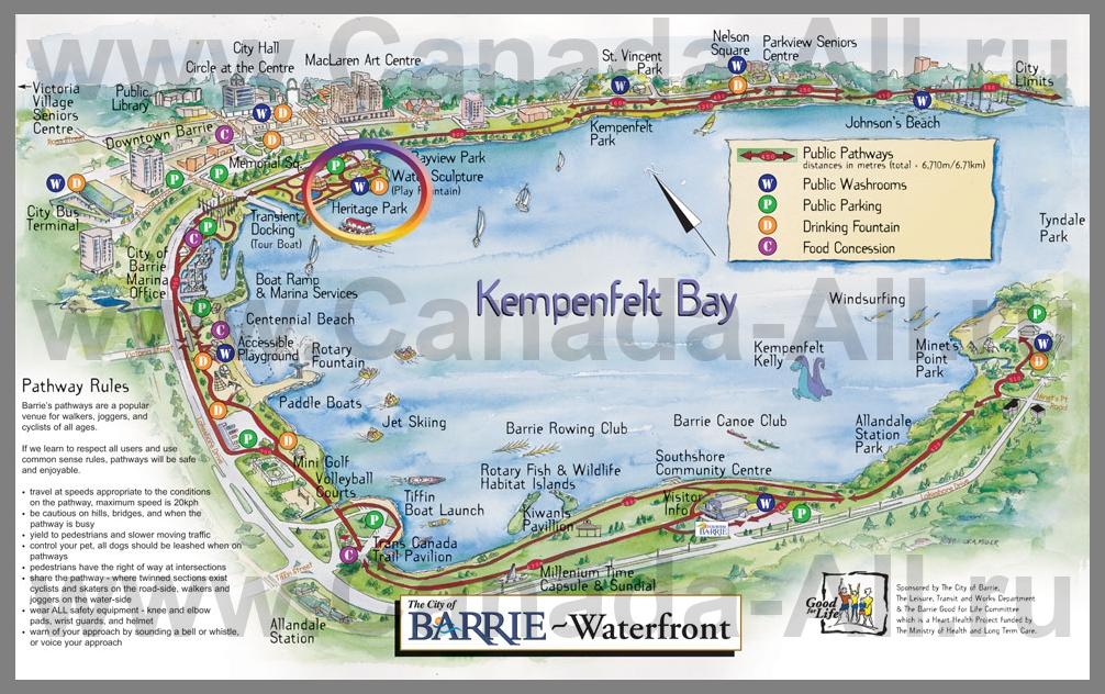 Карты Барри | Подробная карта города Барри | Канада: http://canada-all.ru/karty-kanady/karty-gorodov-kanady/barri/