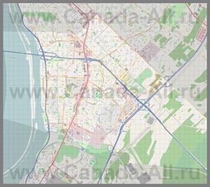 Подробная карта города Броссар