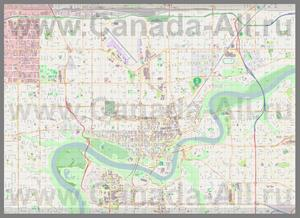 Подробная карта города Эдмонтон