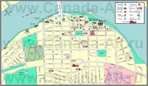Подробная туристическая карта города Фредериктон