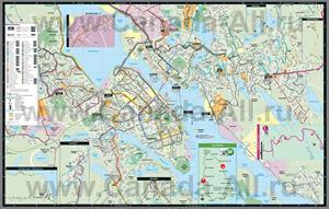 Подробная карта города Галифакс