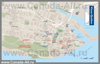 Подробная карта города Квебек