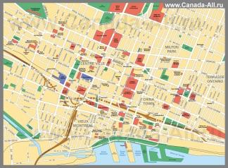 Подробная карта города Монреаль