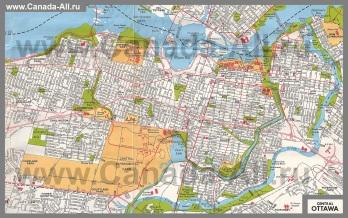Подробная карта города Оттава