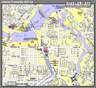 Туристическая карта Оттавы