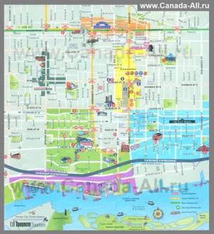 Туристическая карта Торонто