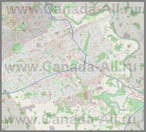 Подробная карта города Китченер