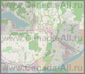 Подробная карта города Кокуитлам