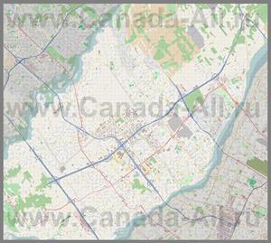 Подробная карта города Лаваль