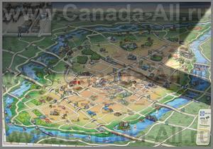 Туристическая карта Лаваля с отелями и достопримечательностями