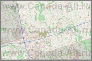 Подробная карта города Маркем