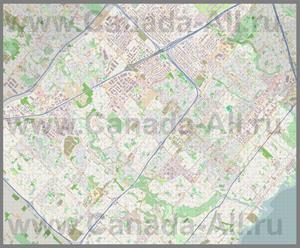 Подробная карта города Миссиссога