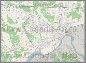 Подробная карта города Монктон