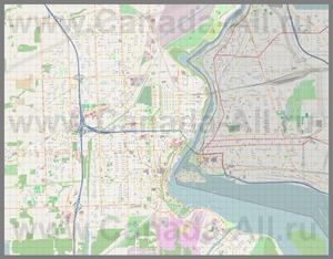 Подробная карта города Ниагара-Фолс