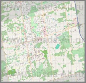 Подробная карта города Орора