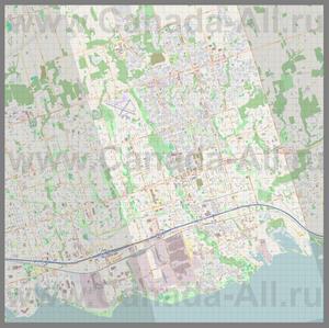 Подробная карта города Ошава