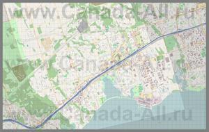 Подробная карта города Пикеринг