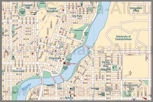 Подробная карта города Саскатун