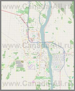 Подробная карта города Сен-Жан-сюр-Ришелье