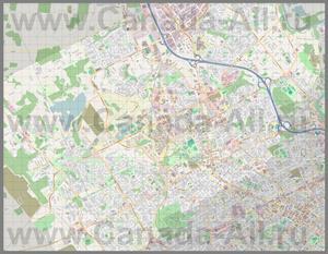 Подробная карта города Уотерлу