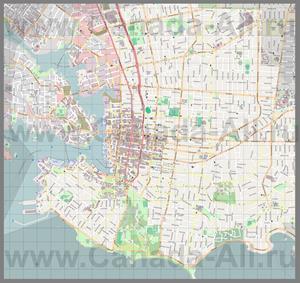 Подробная карта города Виктория