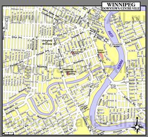 Подробная карта города Виннипег